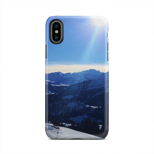 Sunny Winter Mountain Side Frozen iPhone X Case