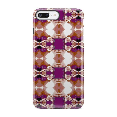 Abstract Purple And Yellow Square iPhone X Case