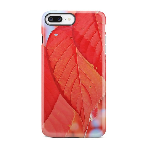 Red Fall Autumn Leaves Warm Tree iPhone X Case