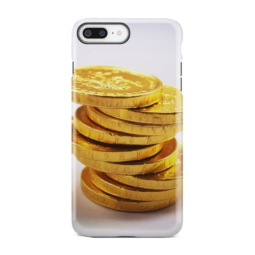 Stack Of Gold Coin Chocolate White iPhone X Case