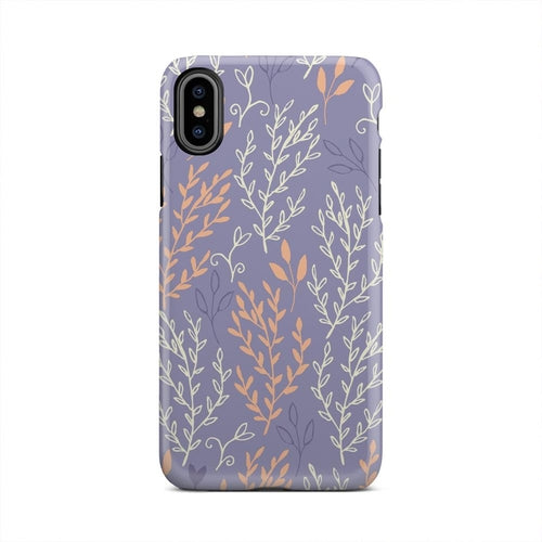 Orange And White Shrub Brush Spring iPhone X Case