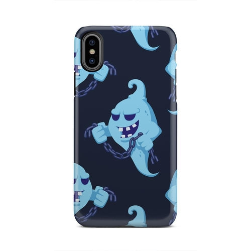 Black And Blue Strong Scary Ghost Chain iPhone X