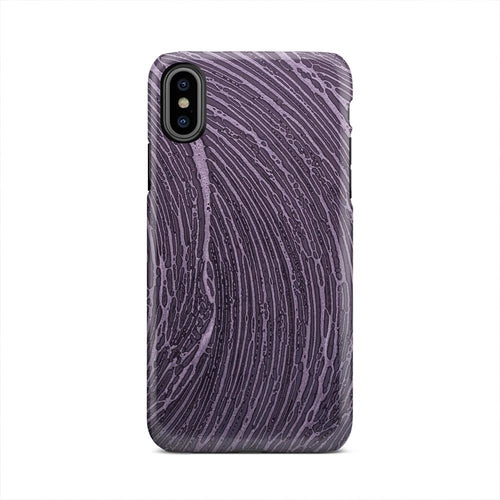Washed Chalked Board Ripple iPhone X Case