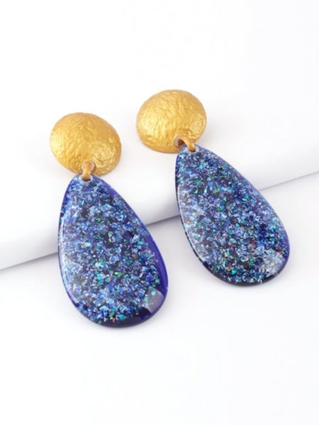 Textured Disc & Open Round Drop Earrings