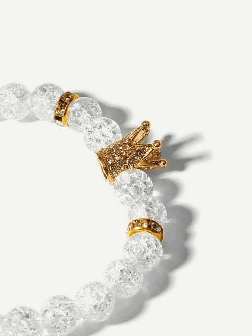 Crown Detail Beaded Bracelet