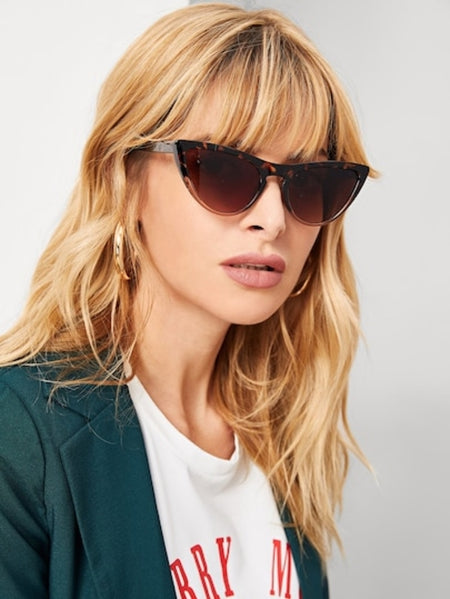 Metal Frame Rimless Sunglasses