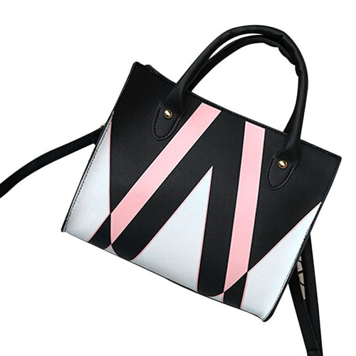 Tri-Colour Striped Bag