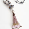 """NEW"" Pink Beaded Tassel Hematite"