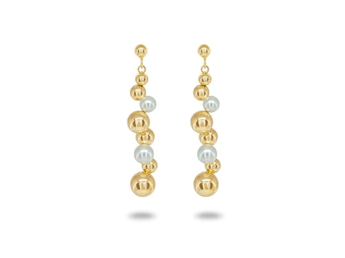 Degrade' Golden Swarovski Pearl Earrings