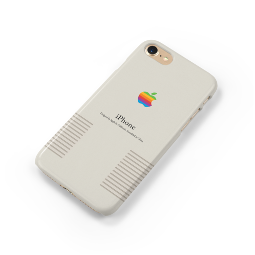 Handmade Retro Apple Logo Vintage iPhone Case