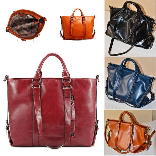 Leather Casual Tote Bag