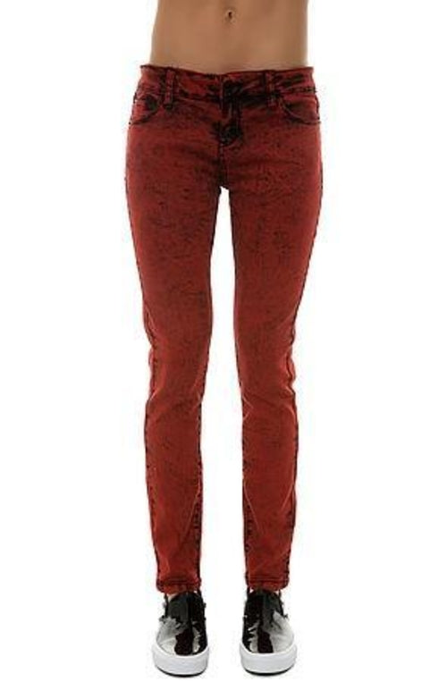Pearl Jeans Collection Skinny Jeans (Acid Red)