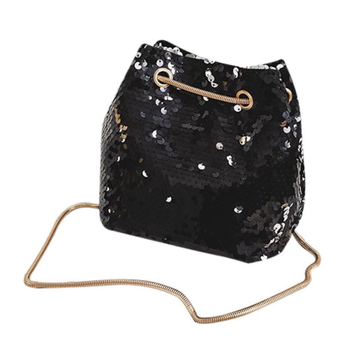 Sequined Pouch Bag