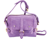 'SASHA' - Purple Designer Leather Suede Cross Body
