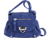 'CHESTER' - Navy Leather Suede Mini Bag