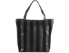 'CAMBRIDGE' - Classic Black Designer Leather Tote