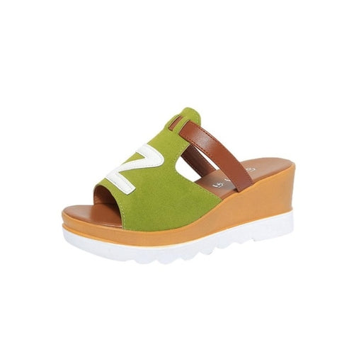 Gladiator Casual Color Wedges
