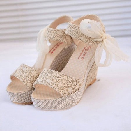 Beaded Flat Shoes