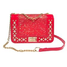 Sequins Leather Crossbody Bag