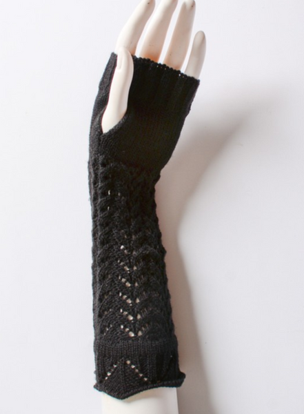 Black Knitted Arm Warmers