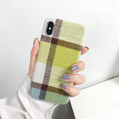 Green Scottish Tartan iPhone Case
