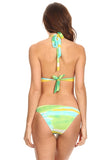 2 Piece Bikini Sky Printed Beach Swimwear