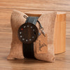 Hole Dial Design Unique Wood Wristwatch