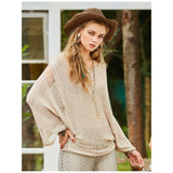 Wool Blend Champagne Loose Knitted Top
