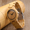 Simple Bamboo Womens Watch With Case