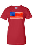 Women's USA Flag Juniors T-Shirt American Paintes