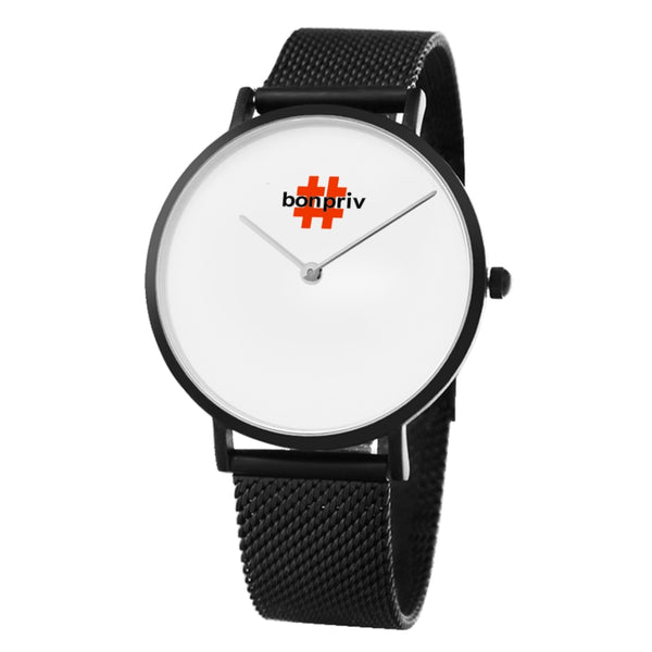 Bonpriv Black Unisex Quartz Watch