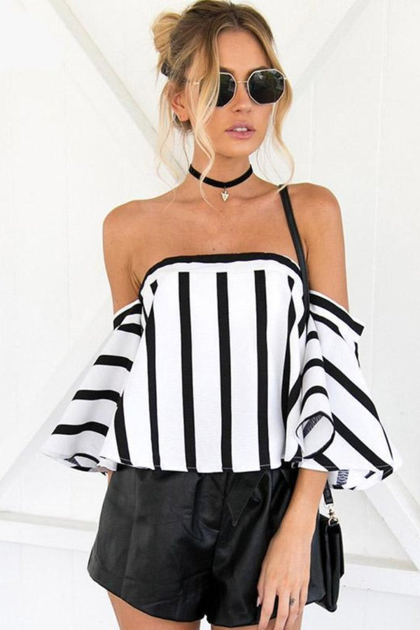 womens dressy blouses womens blouses trendy womens top tops striped shirt bouse striped blouse sexy top party tops offtheshouldertops off the shoulder top off the shoulder blouse ladies tops going out top flare sleeve top fashionable going out tops clubbing tops blouse bell sleeves blouse