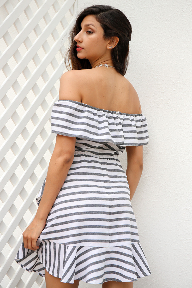 Winika Off The Shoulder Ruffle Tiered Mini Dress