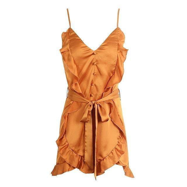 womens jumpsuit satin romper ruffle romper ruffle playsuit ruffle jumpsuit ROMPERS jumpsuit going out playsuits dressy rompers and jumpsuits dressy jumpsuit ALLTOPS ALLJUMP