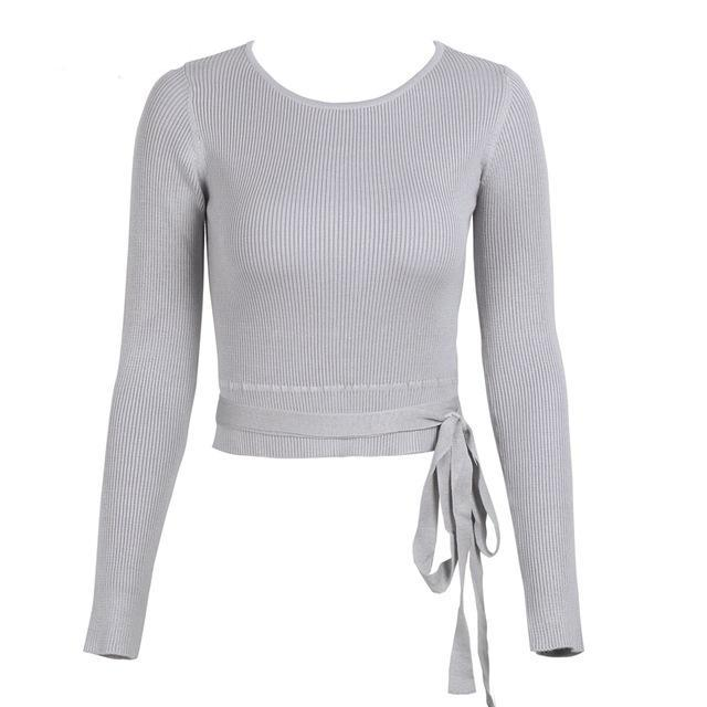 wrap sweater ballet wrap sweater womens cardigan sweater winter sweaters for women winter sweater sweatshirt for women sweatshirt for girls sweatshirt sweaters sweater for women lace up sweater blouses basictops back lace up sweater