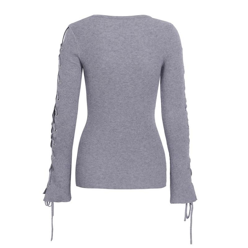 lare sleeve sweater back lace up sweater lace up sweater winter sweaters for women winter sweater sweatshirt sweatshirt for women sweatshirt for girls womens cardigan sweater sweater for women sweaters blouses