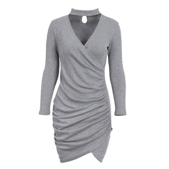 winter knitted dress winter dress wrap dress wrap dress short choker dress choker neck dress knitted dress knit sweater dress sexydresses partydresses minidresses longsleevedresses long sleeve dress long sleeve cocktail dress long sleeve casual dress bodycondresses bodycon homecoming dress bodycon dress homecoming bodycon dress
