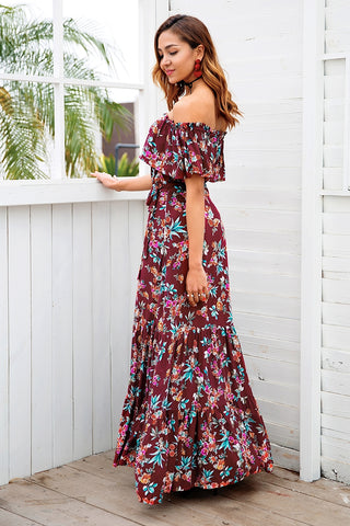 Rose Maxi Of The Shoulder Dress