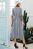 Image of blue stripe dress dresses with slit in the front slit dress midi dress midi dresses with sleeves vertical striped dress striped dress womens dresses online cheap prom dresses under 30 cheap homecoming dresses under 50 party dresses dresses womens dresses formal dresses cocktail dresses mididresses maxidresses everydaydresses alldresses