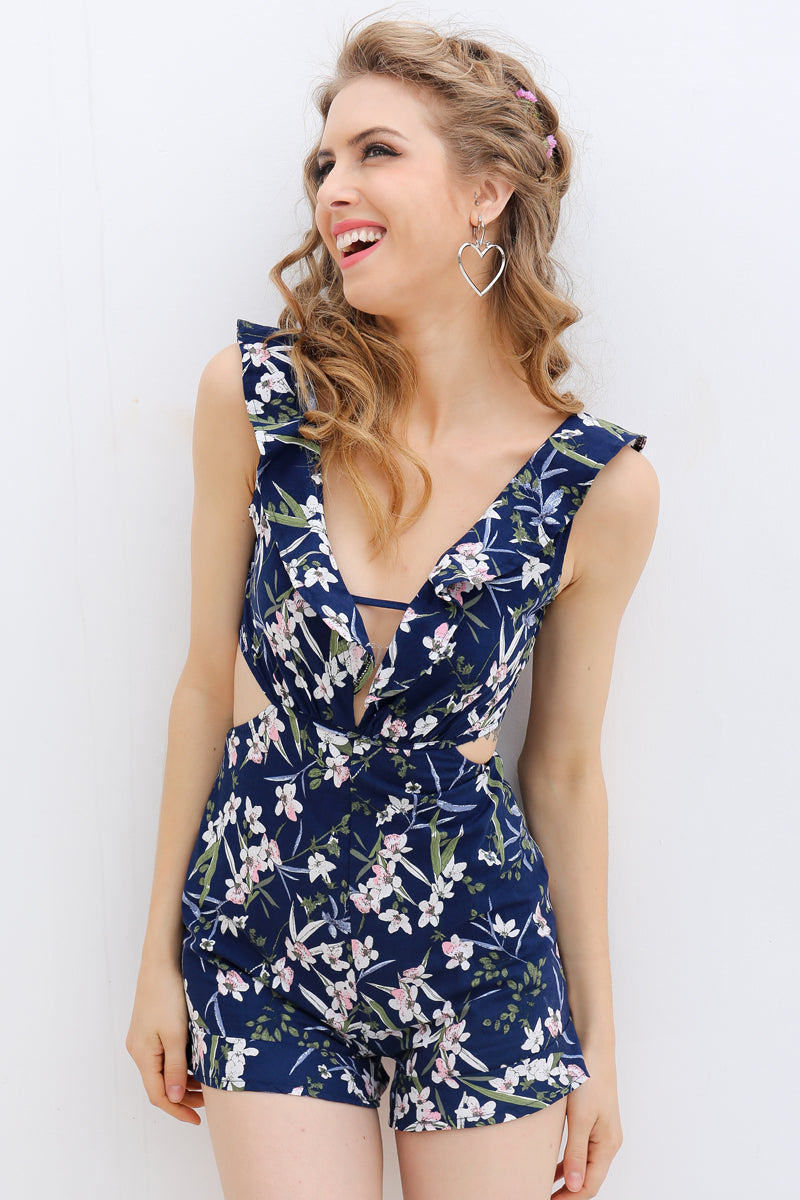 summer playsuit ruffle romper ruffle jumpsuit ROMPERS romper suit romper jumpsuit going out playsuits dressy rompers and jumpsuits dressy jumpsuit backless romper backless jumpsuit