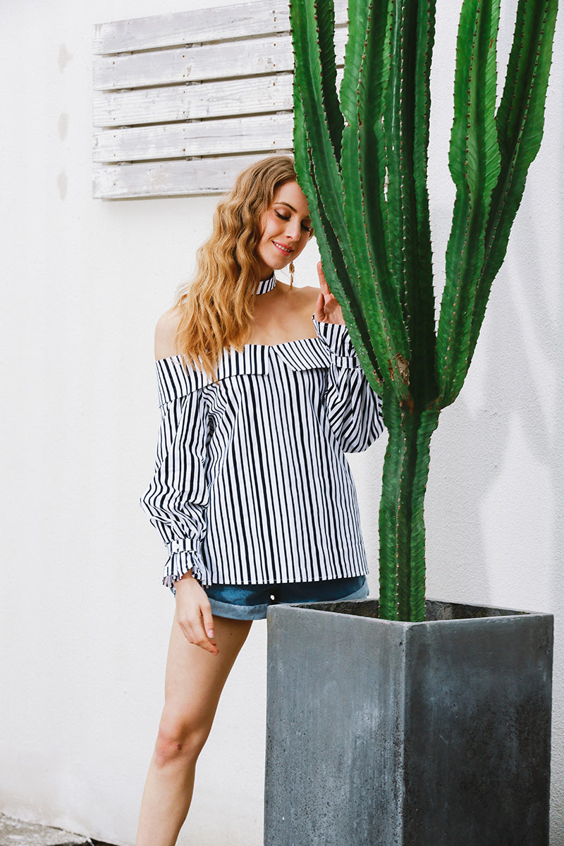 womens dressy blouses womens blouses striped shirt bouse striped blouse partydresses offtheshouldertops off the shoulder top off the shoulder long sleeve top off the shoulder blouse choker top choker neck top choker neck blouse choker blouse blouses blouse basictops
