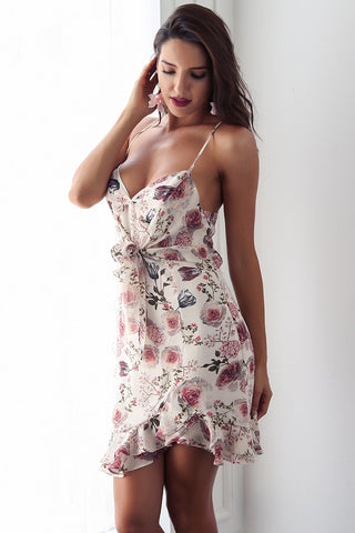 Rafaela Ruffle Floral Summer Mini Dress