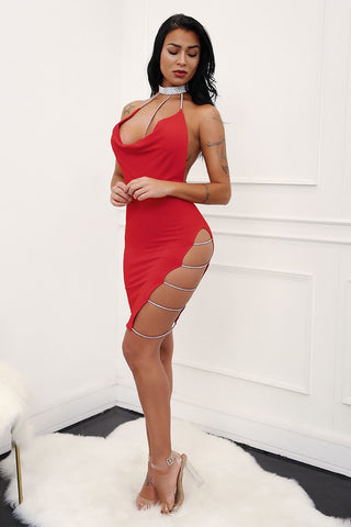 Tonight Sexy Backless Mini Dress