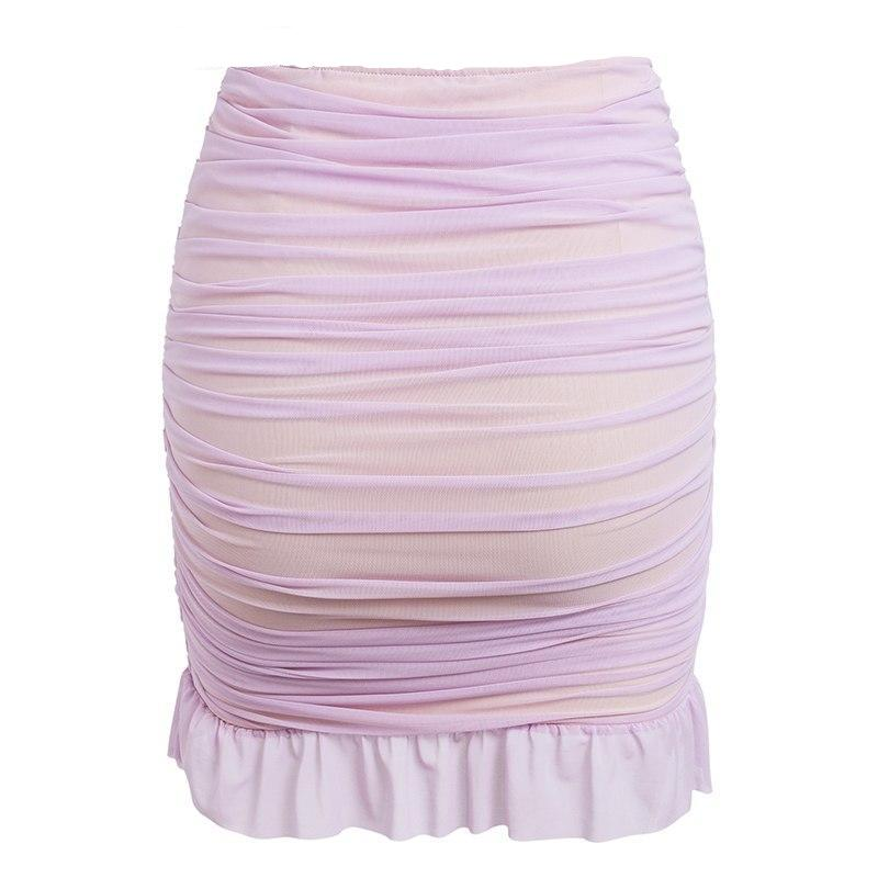 Ruffle Candy Mesh Mini Skirt
