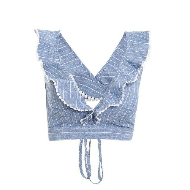 womens tops womens party top womens dressy blouses womens blouses trendy womens top tops striped blouse sexy top ruffle tops ruffle top partytops party tops ladies tops lace up top going out top fashionable going out tops CROPTOPS cropped tops clubbing tops cheap crop tops cheap clothes