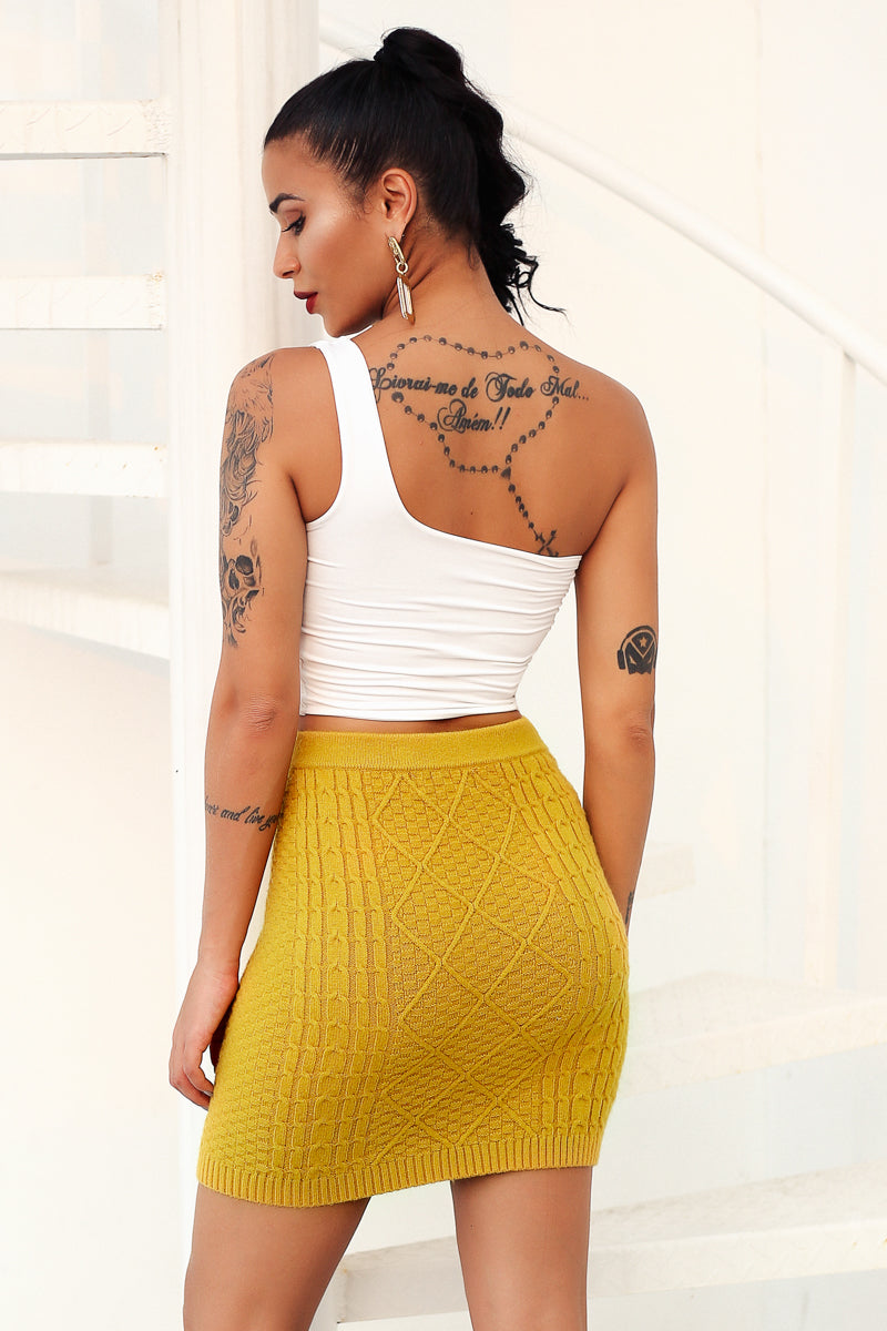 Knitted Bodycon Mini Skirt