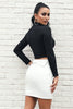 Image of Turn-down Waist Vegan Leather Skirt