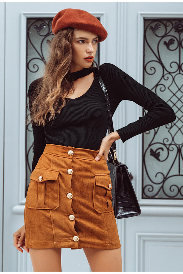 New York Suede Skirt