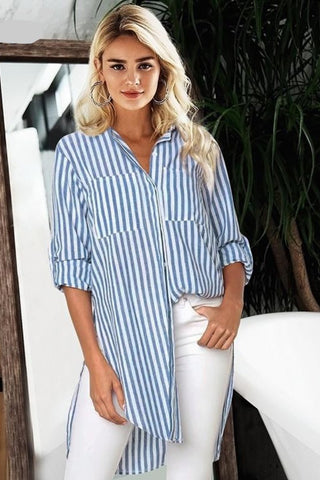 womens dressy blouses womens blouses white button up shirt womens striped shirt bouse striped blouse long sleeve blouse blue and white striped blouse blouses for work blouses blouse