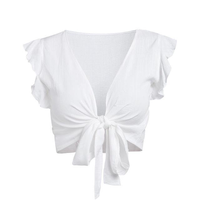 womens tops womens party top tie front blouse sexy top sexy blouses partytops party tops ladies tops lace up top lace up blouse knot front top going out top front tie tshirt fashionable going out tops croptops cropped blouse crop top clubbing tops cheap crop tops blouse